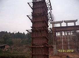 高墩翻模钢模板